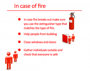Safty Items In Case of Fire