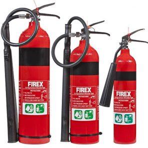co2 firex fire extinguishers